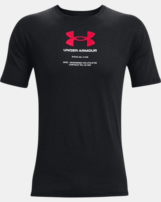 Men's UA Engineered Symbol Short Sleeve, Black, pdpMainDesktop image number 2