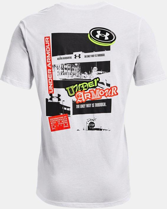 Men's UA Sticker Campus Short Sleeve, White, pdpMainDesktop image number 4