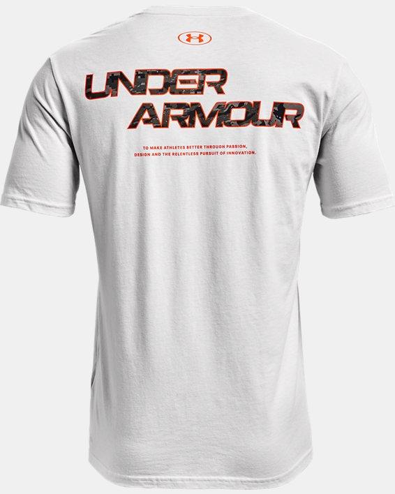 Men's UA ABC Camo Fill Wordmark Short Sleeve, Gray, pdpMainDesktop image number 5