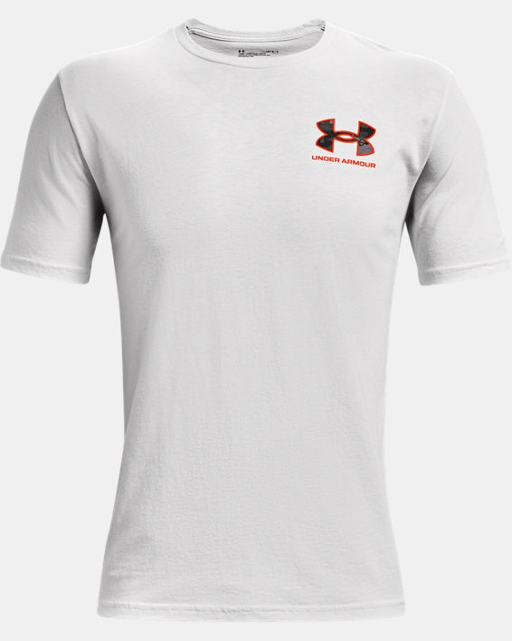 Men's UA ABC Camo Fill Wordmark Short Sleeve, Gray, pdpMainDesktop image number 4