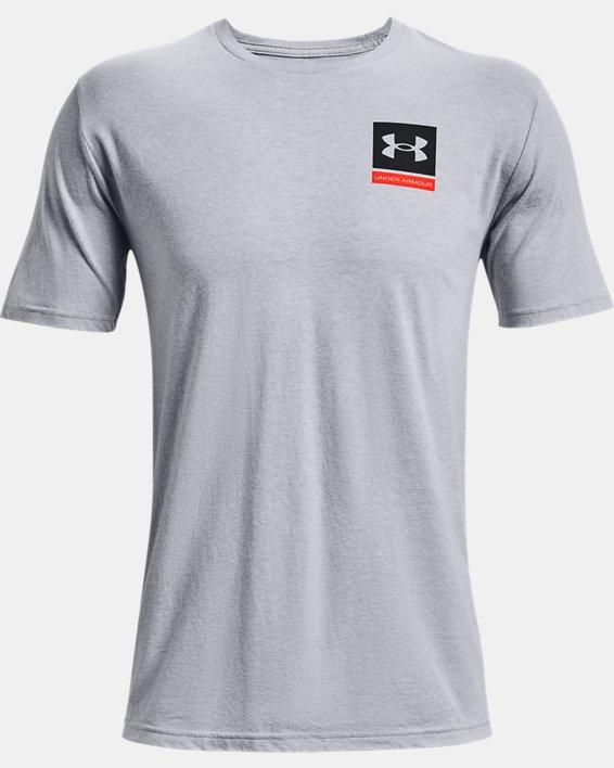 Men's UA 21230 Photoreal Short Sleeve, Gray, pdpMainDesktop image number 4