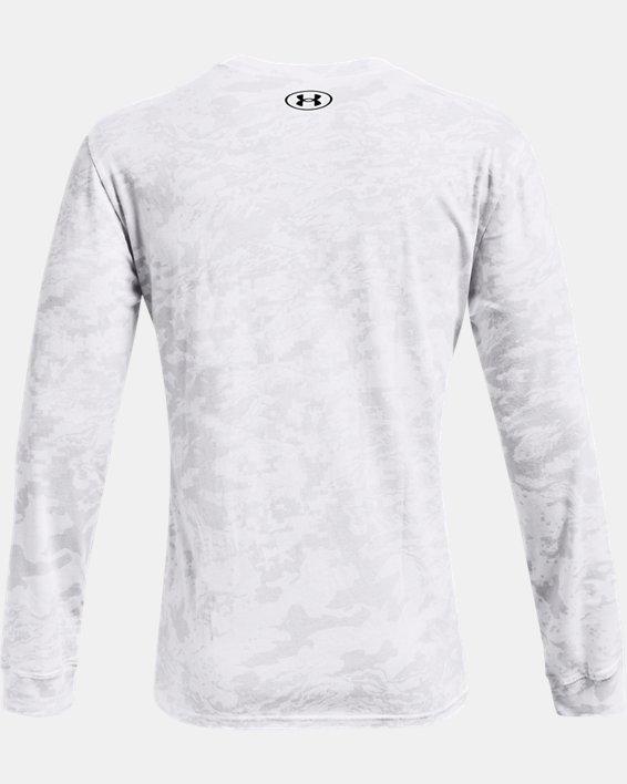 Men's UA ABC Camo Long Sleeve, White, pdpMainDesktop image number 5