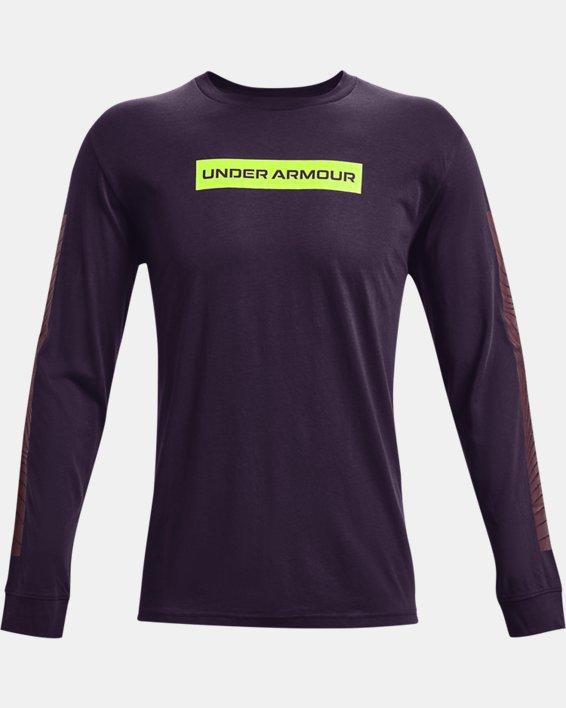 Men's UA 21230 Swerve Long Sleeve, Purple, pdpMainDesktop image number 4