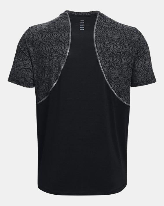Men's UA Iso-Chill Run 200 Print Short Sleeve, Black, pdpMainDesktop image number 6