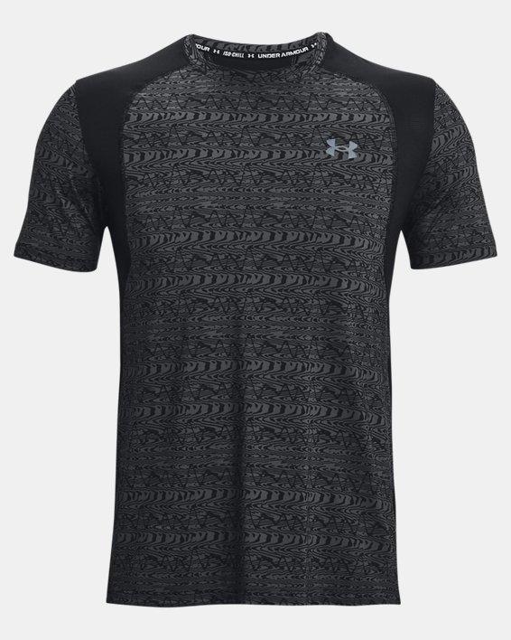 Men's UA Iso-Chill Run 200 Print Short Sleeve, Black, pdpMainDesktop image number 5