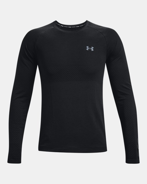 Men's UA Seamless Run Long Sleeve, Black, pdpMainDesktop image number 5