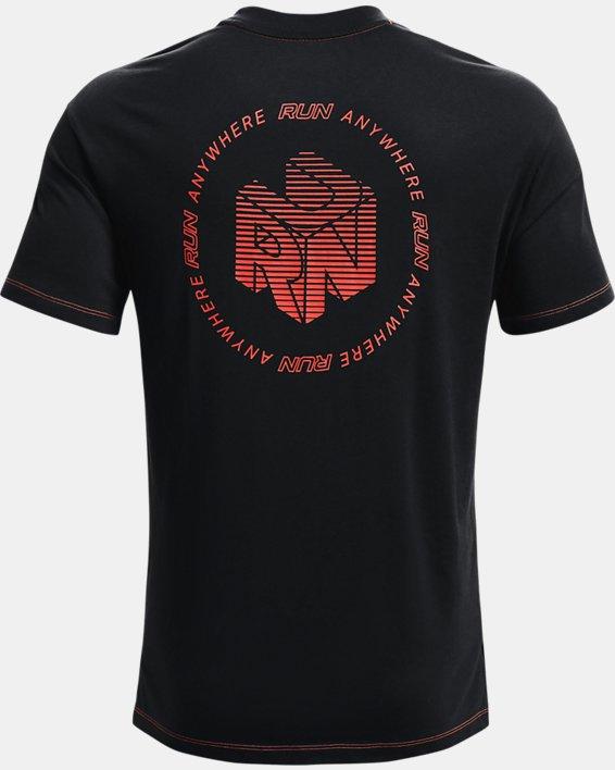 Men's UA Run Anywhere Short Sleeve, Black, pdpMainDesktop image number 4