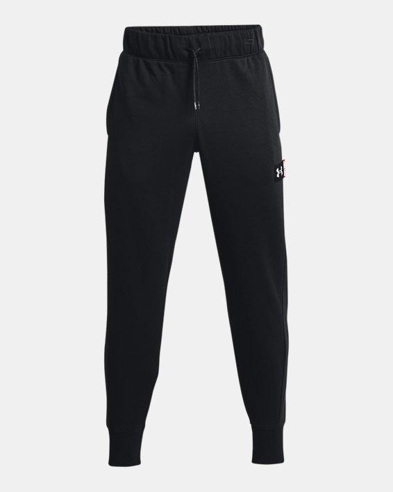 Men's UA Baseline Fleece Joggers, Black, pdpMainDesktop image number 4