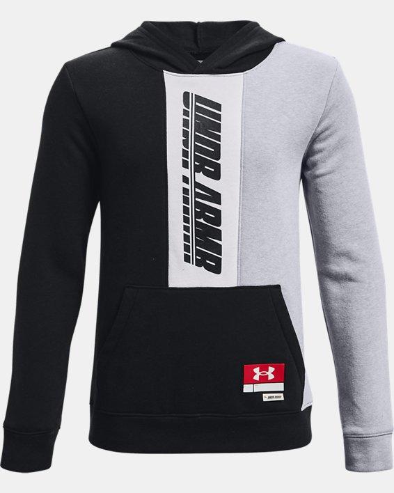 Boys' UA Baseline Hoodie, Black, pdpMainDesktop image number 0