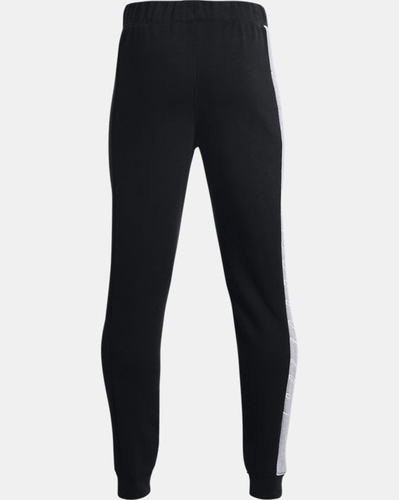 Boys' UA Baseline Fleece Pants, Black, pdpMainDesktop image number 1