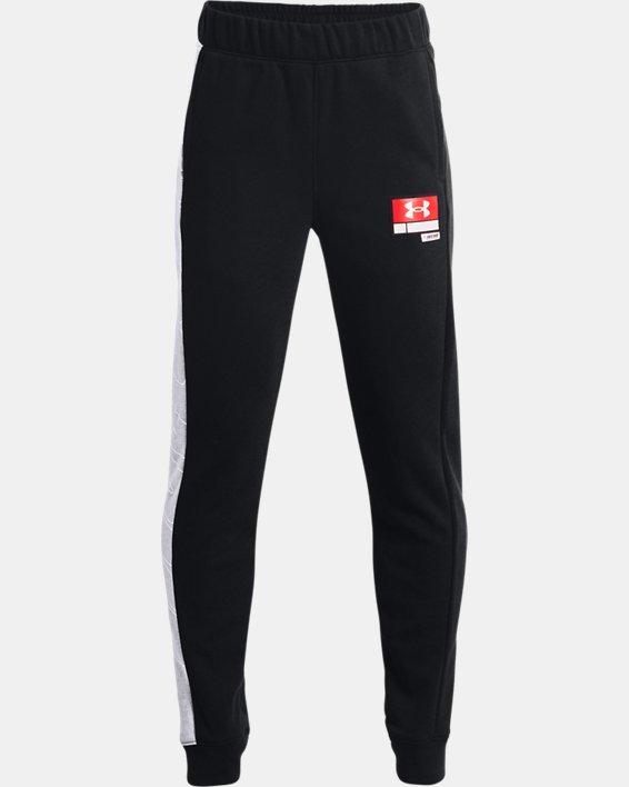 Boys' UA Baseline Fleece Pants, Black, pdpMainDesktop image number 0