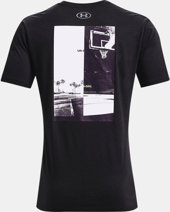 Men's UA Basketball Photo Short Sleeve, Black, pdpMainDesktop image number 4