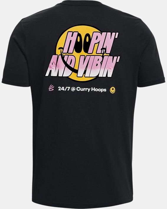 Men's Curry Hoop Vibes T-Shirt, Black, pdpMainDesktop image number 1