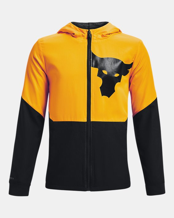 Boys' Project Rock Legacy Jacket, Yellow, pdpMainDesktop image number 0