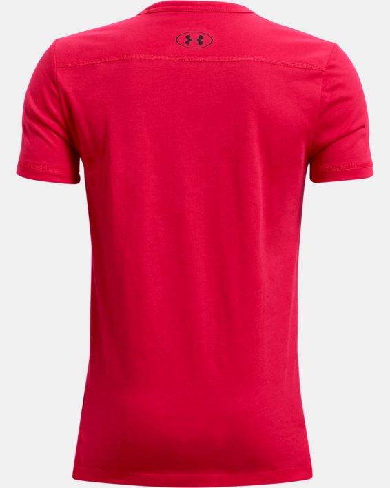 Boys' Project Rock Show Me Sweat Short Sleeve, Red, pdpMainDesktop image number 1