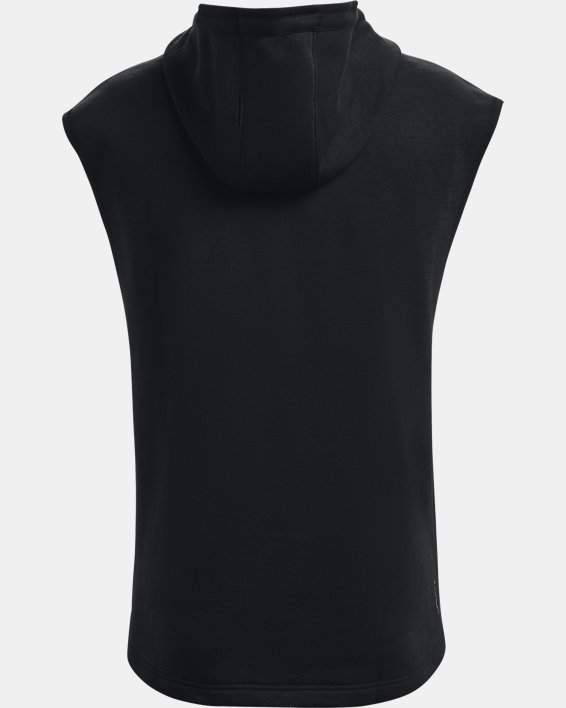 Men's Project Rock Charged Cotton® Fleece Sleeveless Hoodie, Black, pdpMainDesktop image number 8