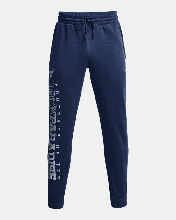 Men's Project Rock Charged Cotton® Fleece Joggers, Blue, pdpMainDesktop image number 4