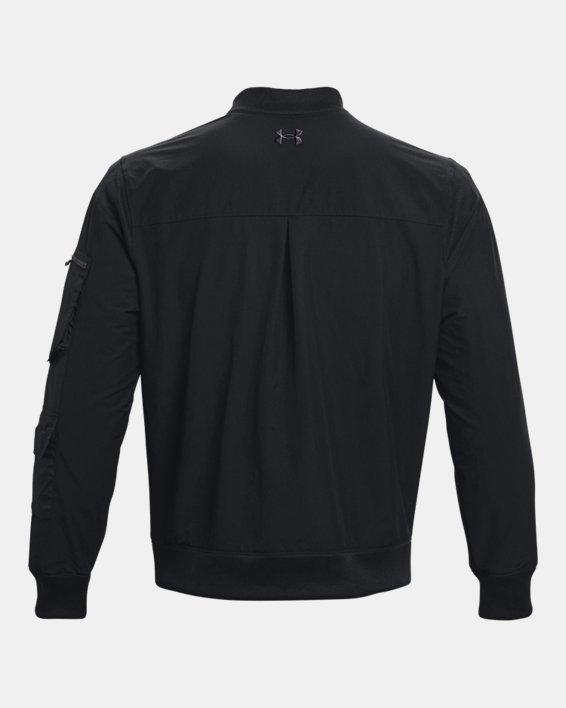 Men's Project Rock Bomber Jacket, Black, pdpMainDesktop image number 6