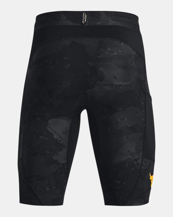Men's Project Rock Camo Compression Shorts, Black, pdpMainDesktop image number 5