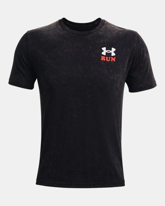Men's UA Keep Run Weird KOR Short Sleeve, Black, pdpMainDesktop image number 5
