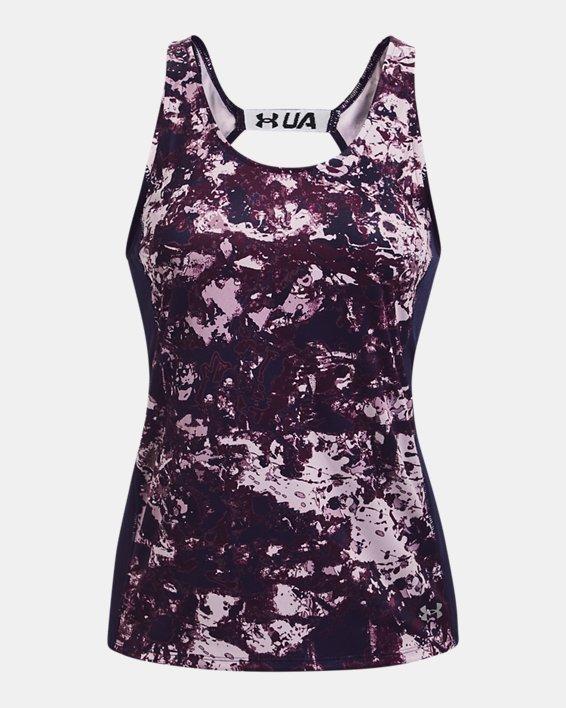 Women's UA Fly-By Printed Tank, Pink, pdpMainDesktop image number 3