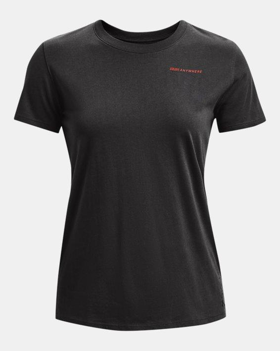 Women's UA Run Anywhere Short Sleeve, Gray, pdpMainDesktop image number 4