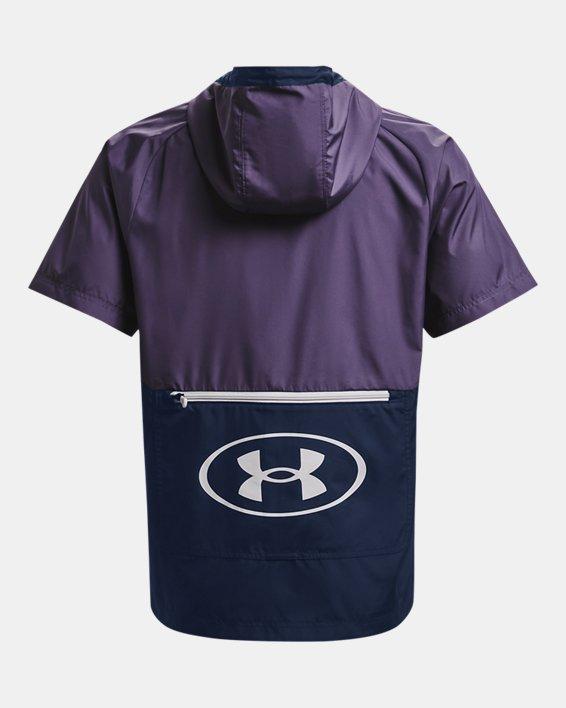 Men's UA Evolution Woven Full-Zip Short Sleeve Hoodie, Purple, pdpMainDesktop image number 5
