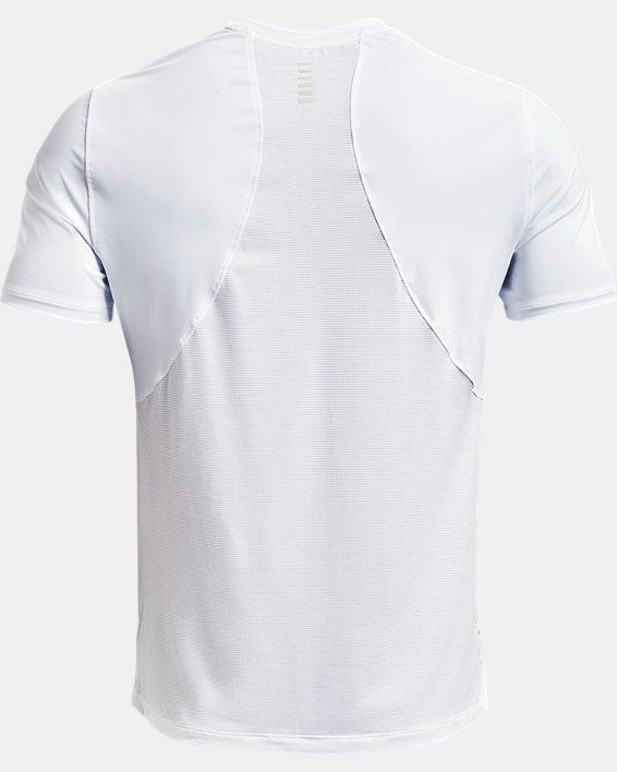 Men's UA Iso-Chill Run Short Sleeve, White, pdpMainDesktop image number 5