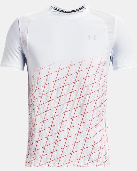 Men's UA Iso-Chill Run Short Sleeve, White, pdpMainDesktop image number 4