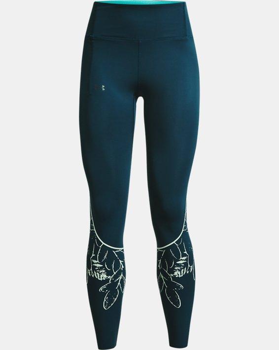 Women's UA SmartForm RUSH™ Custom Length Leggings, Blue, pdpMainDesktop image number 6
