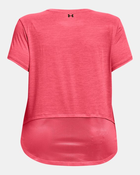 Women's UA Tech™ Vent Short Sleeve, Pink, pdpMainDesktop image number 4