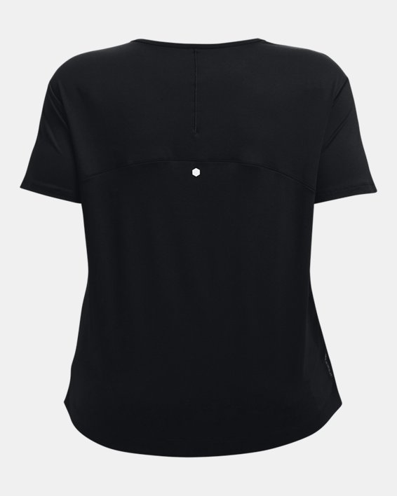 Women's UA RUSH™ Energy Core Short Sleeve, Black, pdpMainDesktop image number 6