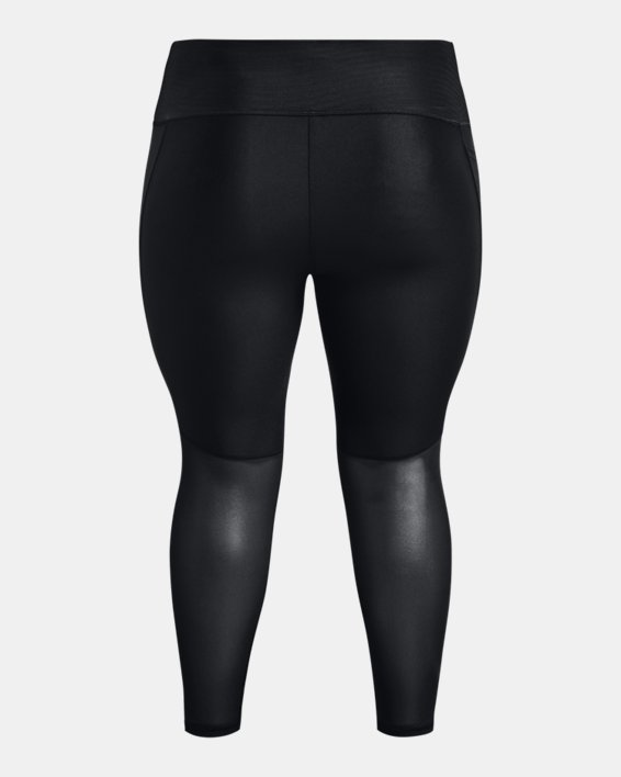 Women's HeatGear® Armour No-Slip Waistband Graphic Ankle Leggings, Black, pdpMainDesktop image number 5