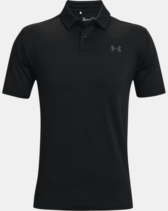 Men's UA T2G Polo, Black, pdpMainDesktop image number 4