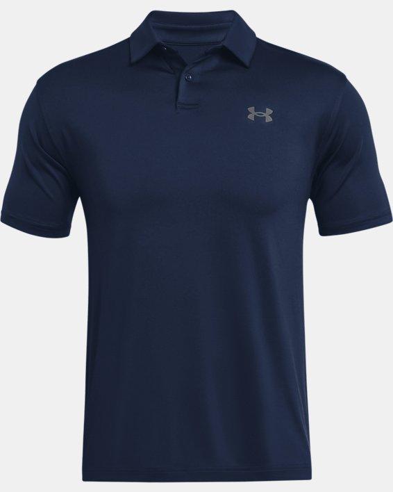Men's UA T2G Polo, Navy, pdpMainDesktop image number 4