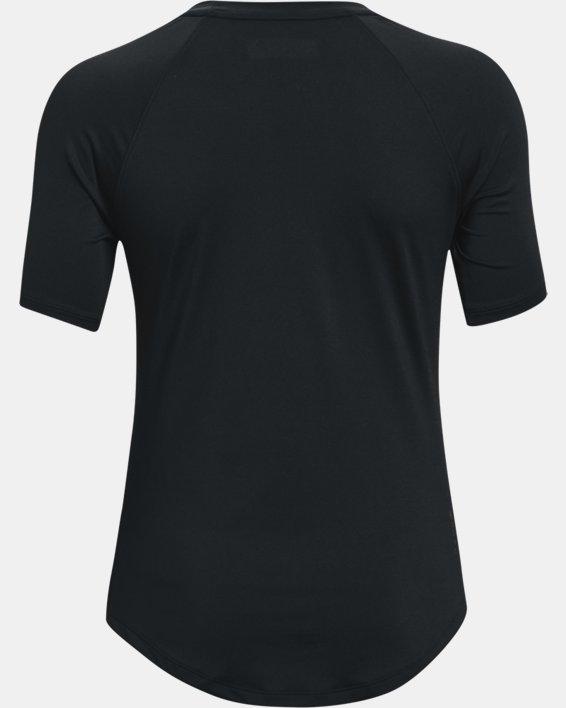 Women's UA RUSH™ Short Sleeve, Black, pdpMainDesktop image number 5