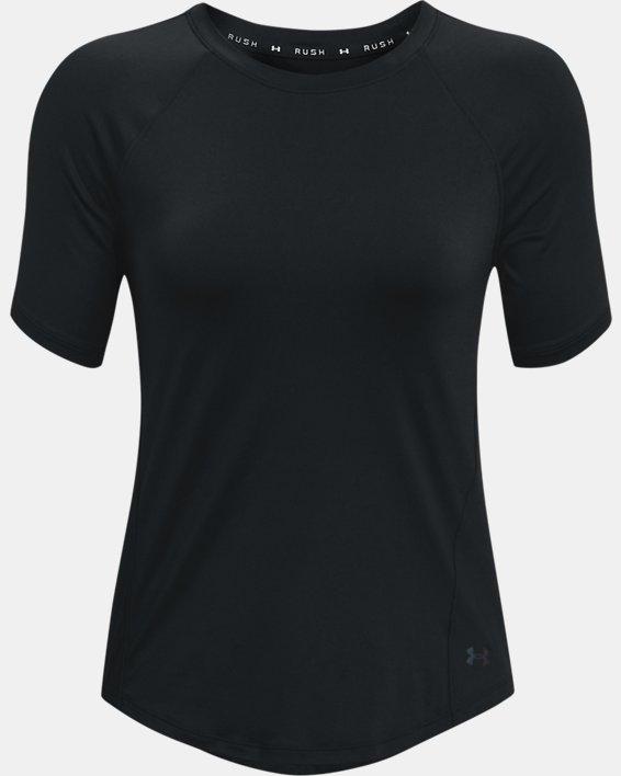 Women's UA RUSH™ Short Sleeve, Black, pdpMainDesktop image number 4