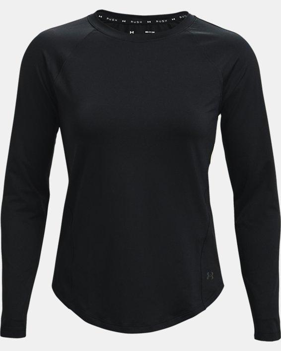 Women's UA RUSH™ Long Sleeve, Black, pdpMainDesktop image number 4
