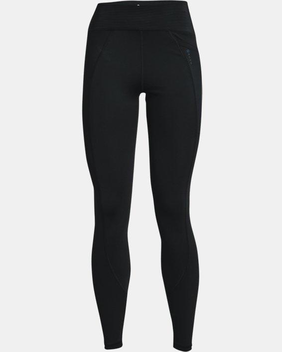 Women's UA RUSH™ No-Slip Waistband Full-Length Leggings, Black, pdpMainDesktop image number 4