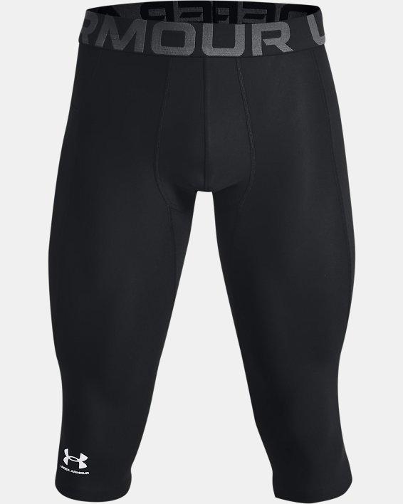 Men's HeatGear® Compression Knee Tights, Black, pdpMainDesktop image number 4