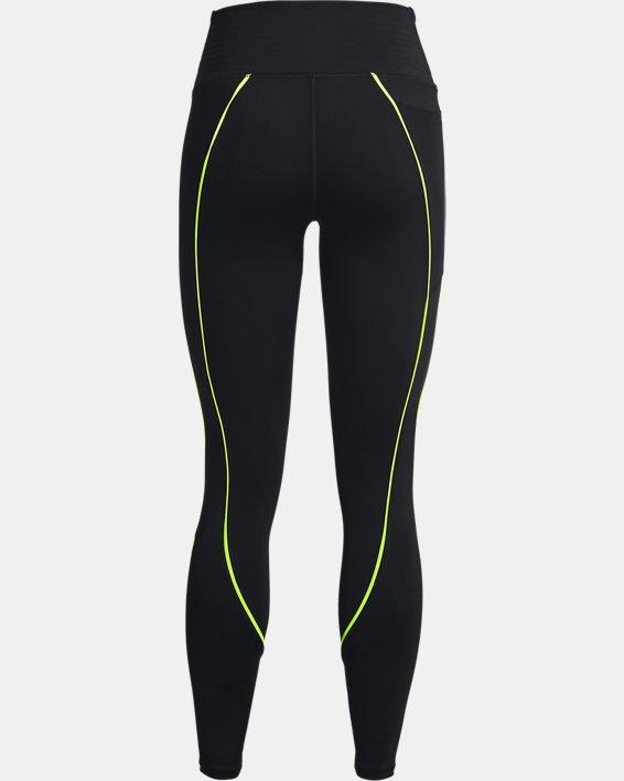Women's UA RUSH™ HeatGear® No-Slip Waistband Mesh Pocket Full-Length Leggings, Black, pdpMainDesktop image number 6