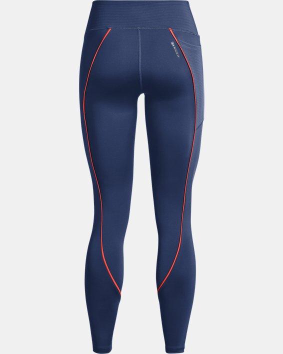 Women's UA RUSH™ HeatGear® No-Slip Waistband Mesh Pocket Full-Length Leggings, Blue, pdpMainDesktop image number 5
