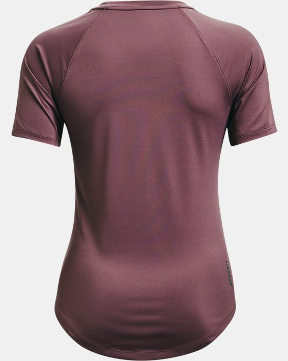 Camiseta de manga corta UA RUSH™ Mesh para mujer, Purple, pdpMainDesktop image number 5