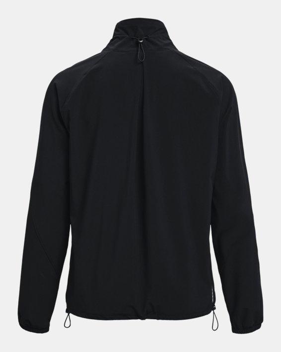 Women's UA RUSH™ Woven Full-Zip Jacket, Black, pdpMainDesktop image number 5