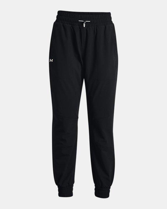 Women's UA RUSH™ Woven Pants, Black, pdpMainDesktop image number 4