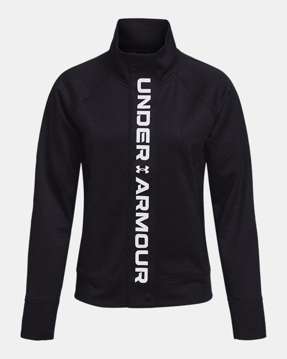 Women's UA RUSH™ Tricot Jacket, Black, pdpMainDesktop image number 3