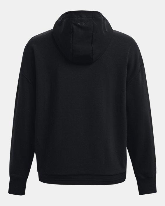 Women's Project Rock Fleece ¼ Zip, Black, pdpMainDesktop image number 6