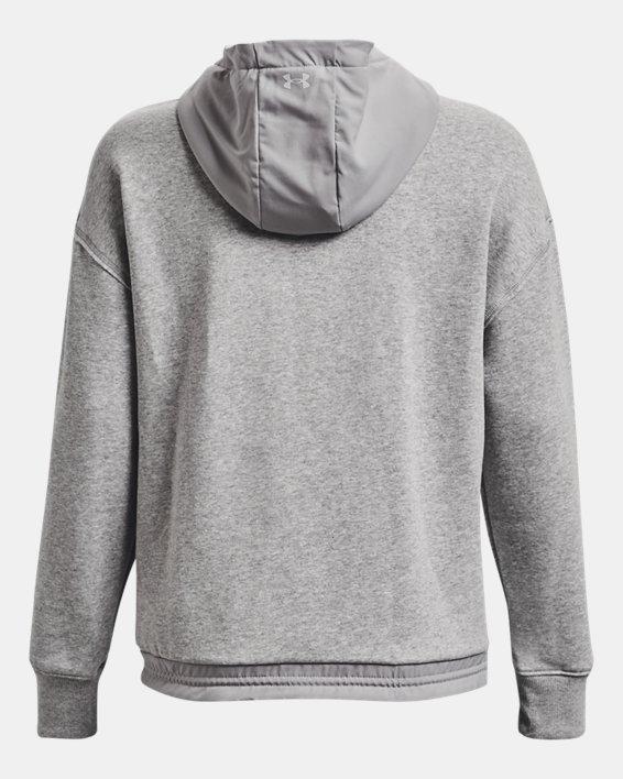 Women's Project Rock Fleece ¼ Zip, Gray, pdpMainDesktop image number 6