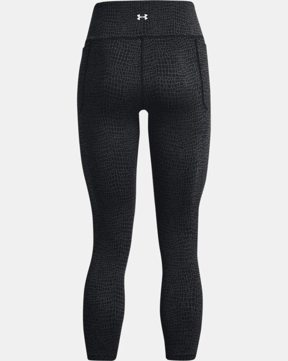 Women's UA Meridian Print Ankle Leggings, Black, pdpMainDesktop image number 5