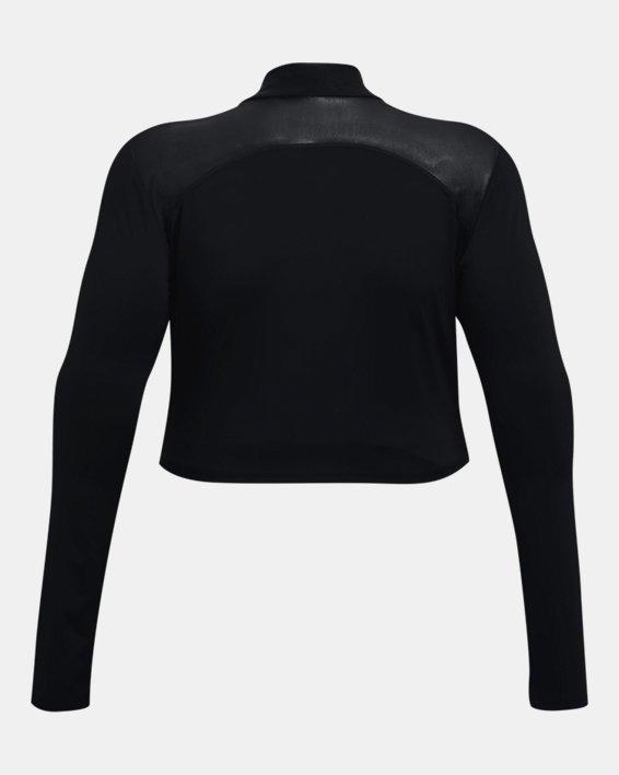 Camiseta corta con cuello alto HeatGear® para mujer, Black, pdpMainDesktop image number 5